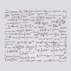 Mathematics equations on white Throw Blanket